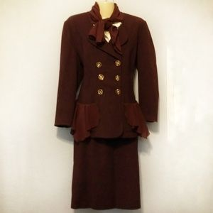 Vintage Karl Lagerfeld wool skirt suit